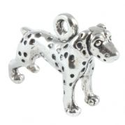 Dalmatian Dog Standing 3D Sterling Silver Charms